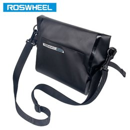 Wholesale Wholesale Water Proof Bags - ROSWHEEL New Bicycle Bag 3L Water Proof MTB Bike Handlebar Front Basket PVC Pannier Pouch Cycling Holdings Accessories 2509037