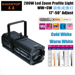Wholesale Led Reflector White - Factory Sales 200W Warm Cold White 2in1 Led Ellipsoidal Reflector Spotlight 2in1 Optional 3200K + 6500K White Zoom Focus Spot Adjust TP-005