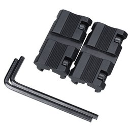 """Wholesale Dovetail Weaver Rail - 2pcs Picatinny W 3 8"""" 11mm Dovetail to 7 8"""" 20mm Weaver Rail Adapter Scope Mount Outdoor Hunting"""