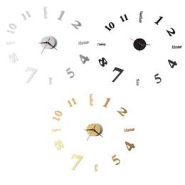 Wholesale Wholesale 12 Inch Clocks - Wholesale- Black Gold Silver Large Silent Quartz Wall Clock Movement DIY Hands Mechanism 12 Inches