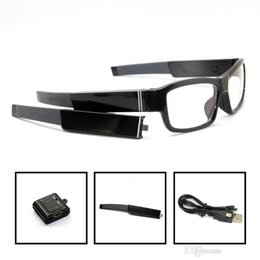 Wholesale Hd Spy Camera Glass - Remote control HD 1080P Glasses hidden camera Spy glasses pinhole camera change battery Digital Video Camera Eyewear no hole DVR Camcorder