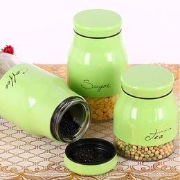 Wholesale Wholesale Plastic Food Jars - (3Pcs) Glass Sealed Food Grain Seal Storage Tank Containers Bottle Food Container Transparent Plastic Jar Canister For Home Kitchen