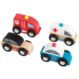 Wholesale Educational Toy Vehicle - Exquisite All Solid Beech Wood Cars And Traffic Signs Funny Children Kid Baby Gift Educational Mini Car Vehicle Wooden Toy 8 models