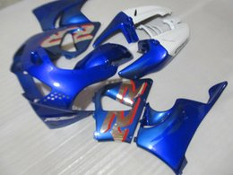 Wholesale Cbr Body Parts - New hot body parts fairing kit for Honda CBR919RR 98 99 blue white fairings set CBR 900RR 1998 1999 OT25