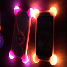 "Wholesale Led 3d Iphone Case - universal 3D cartoon silicone case led light up bumper luminous soft cases for iphone 7 plus samsung LG 3.5""-5.5"" phone"