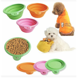Wholesale Vehicle Canopies - Pet Feeding Bowl, Silicone Pop-up and Folding Travel Bowl for Food and Drink