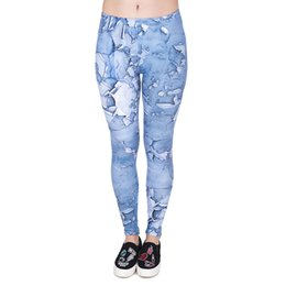 Wholesale Girl Sport Cloth - Lady Leggings Old Cloth Pattern 3D Graphic Print Women Skinny Stretchy Soft Yoga Pants Girls Sports Workout Full Length Trousers (J44022)