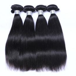 18 polegadas de cabelo malaysian on-line-Atacado 8 - 30 polegada Cabelo Brasileiro Malaio Peruano Mongol Indiano Virgem Extensões de Cabelo Humano 1 pcs Cabelo Liso Livre grátis