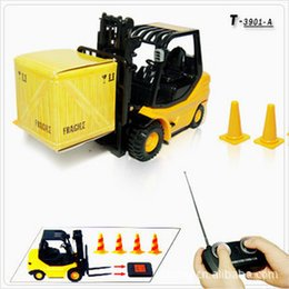 Wholesale Crane Electric - Wholesale-1:20 Engineering forklift,Export world 6 channel mini remote control car,Miniature crane,Electric wireless ,free shipping