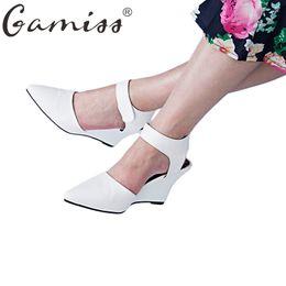 Wholesale Wholesale Platform Pump High Heels - Gamiss Summer Women High Heel Sandals Pointed Toe High Heels Shoes Platform Wedges Walk Shoes All Match Shoes Women Casual Pumps