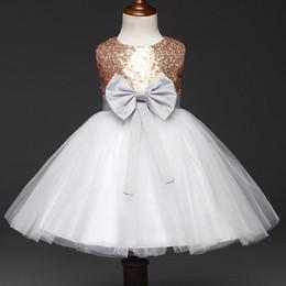 vestido de chá de tule roxo Desconto Moda Meninas Vestido De Noiva Ribbo Beads Bow Em Camadas de tule de Casamento Pageant Verão Princesa Vestidos de Festa Roupas vestido de baile da menina da flor