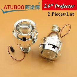 "Wholesale H1 Headlight Socket - 2.0"" HID Bi-Xenon Projector Lens with Shroud,Using H1 Bulb Socket for H1 H4 H7 car Headlight motorcycle Retrofit"