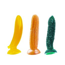 Wholesale Cheap Quality Butt Plug - Fruit Shape Butt Plug Anal Beads Suction Cup Free Shipping Sex Toys Cheap and High Quality Anal for Beginners Butt Plug for Women and Men