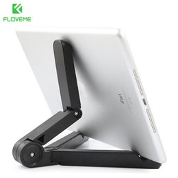 Wholesale Edge Tablet Phone - FLOVEME Flexible Tablets Phone Stand Case for iPad iPhone 4 5s 6 6S Plus For Galaxy S5 S6 Edge 360 Folded Holder