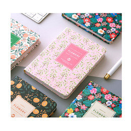 Wholesale Office Binding Supplies - Wholesale- PU Leather Floral Flower Schedule Book Diary Weekly Planner Notebook Material Escolar School Office Supplies Stationery