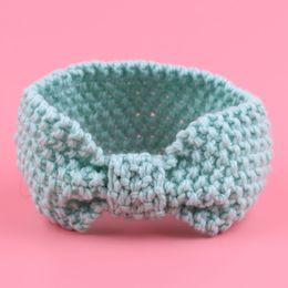 Wholesale Babys Headbands - Wholesale- 1 PC Winter Warm Babys Turban Ear Warmer Headwrap Girls' Knot Crochet Headband Knitted Hairband Headwrap Hair Band Accessories