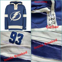 b6601306bf8 S-3XL Men s Old Time Hockey Tampa Bay Lightning Blank Custom Jersey Hoodie  Authentic Hoodies Jerseys Winter Sweatshirts Blue Cream Shirt
