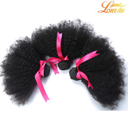 Wholesale ladies hair color - Gorgeous Lady Hair!Malaysian Human Hair Afro Kinky Curly Extensions Weaves 3 Bundles Lot Unprocessed afro curly Human Hair Bundles