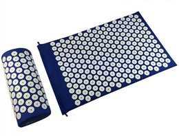 Wholesale Relaxation Pillows - Acupressure Spike Yoga Pillow Mat Relieve Stress Pain Relief Health Care Shakti Massager Relaxation Neck Back Pain Treatment