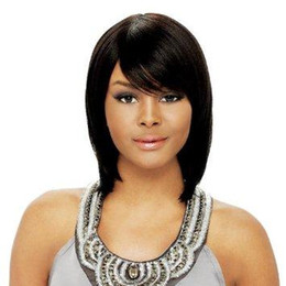Wholesale Black Hair Weave Hairstyles - 10A 150% Silky Straight Full Lace Wig Human Hair Brazilian Virgin Hair 100% Straight Full Lace Wig Silk Full Lace Human Hair Wigs Wigs Weave