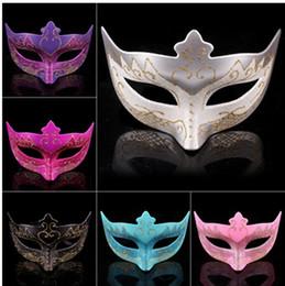 Wholesale Blue Paper Plate - Plastic Plating Masquerade Masks Venetian Dance Party Half Face Mask For Women Men Halloween Easter Decorate Festive Supplies