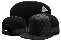 Wholesale White Leather Hat - Fashion Cayler Sons Snapbacks Brand Baseball Caps Hip Hop Street Dance Hat Gorras Adjustable Cap For Men Women Black leather cap bone gorras