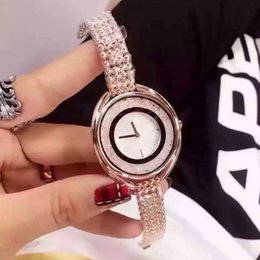 Wholesale Gold Plated Ladies Watches - Lady Women Watch Rhinestone Decoration Luxury watches Fashion Women Gold Plated Design Famous Brand bracelet wristwatches for girl Best Gift