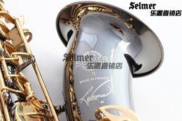 Wholesale Tenor Sax Accessories - Free shipping EMS Genuine France Selmer Tenor Saxophone R54 Professional B Black Sax mouthpiece With Case and Accessories #9