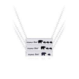 Canada Mama ours collier, cadeau de fête des mères, cadeau de douche de bébé de haute qualité bijoux de marque bijoux en gros animaux 161902 Offre