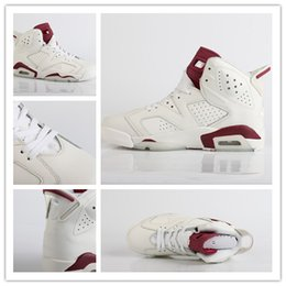 Wholesale White Rhinestone Boots - Wholesales2016 Air retro 6 MAROON infared 6s Basketball Shoes Mens red white Athletics Shoes VI women Sports Shoes Sneakers low Boots