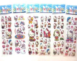 Canada 100 FEUILLE CHAUDE! Animation de bande dessinée 3D Scrapbook / Laptop Fun Stickers 3D Stéréo Bubble Sticker pour enfants cheap toys laptops Offre