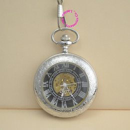 Wholesale Dresses Coupons - Wholesale-coupon for wholesale buyer price good quality vintage antique retro silver man hand wind mechanical chain pocket watch hour