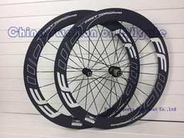 Wholesale Time Carbon Road Bikes - Full carbon road bike wheels FFWD F6R 60mm rim carbon bicycle wheelset with R36 hubs (sell 2015 newest time skylon C59 frame)