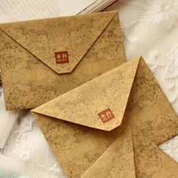 Wholesale Kraft Stationary - Wholesale- 5pcs lot 155*111mmNew Vintage kraft paper DIY envelope set Fancy envelopes Kawaii gift stationary