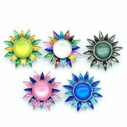 Moda KZ3049 Bellezza 10 pz Charming flower shape crisantemo 20 MM zenzero bottoni a pressione per DIY zenzero accessori gioielli a scatto di fascino da accessori forma fiore gioielli fornitori