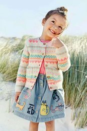 Wholesale Girls Toddler Sweater Coat - Cartoon cotton cute Girls knitting cardigan new 2017 Autumn Winter Children Cardigan Crochet Cardigan kids coat Toddler sweater A898