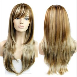 """Wholesale Wig Blond Cosplay - Synthetic Wigs 26"""" Long Blond Wig 280g Natural Heat Resistant Wavy Synthetic Wigs for Black Women Cosplay Blonde Wigs Afro"""
