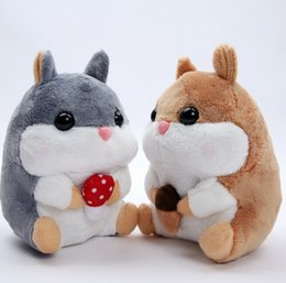 Wholesale Hamster Wholesale - Wholesale- high quality 1pcs 20cm cute plush toy Amuse soft hamster stuffed doll little Hamsters plush toy for children best gifts