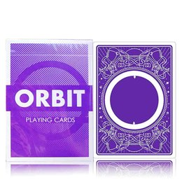 Wholesale poker professional - 1 DECK Purple Orbit Third edition Deck Poker Playing Cards Magic Cards Magic Props Close Up Magic Tricks for Professional