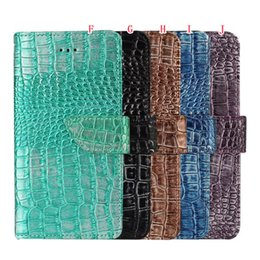 Wholesale Grain Photos - Fashion Bling Lizard Croco Grain Wallet Leather Pouch Case For Iphone 7 I7 Plus Iphone7 Snake Stand Card Photo Frame Cover Luxury 150pcs