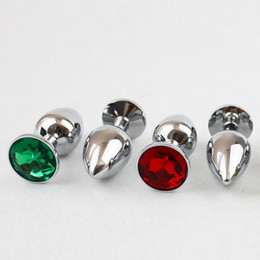 Wholesale Butt Plugs Jewels - Wholesale 5PC Lot (9.0*4.0cm)Metal Anal Sex Toys  Butt Plug Sex Products, Stainless Steel+Crystal Jewel Anal Large Big Butt Plug q0506