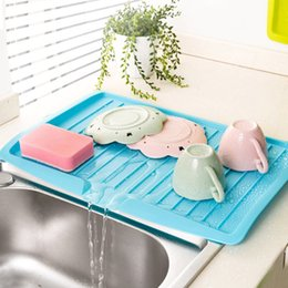 Wholesale Kitchen Fruit Vegetable Storage - Kitchen Dishes Sink Drain Pallets Storage Rack Dish Draining Board With Outlet Vegetable & Fruit Drain Shelf Drying Rack ZH01104