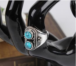 Wholesale Particle Band - Semicircle particle natural stone restoring ancient ways ring Traffic light ring
