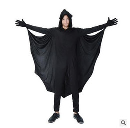Wholesale Vampire Bat Costumes - Halloween cosplay clothing Adult male bats collection vampire suits Parent-child clothing export game cosplay