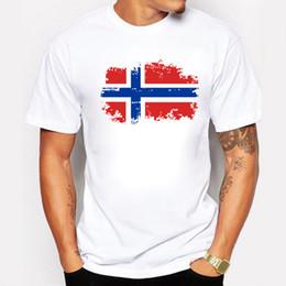 Wholesale Cup Printing Design - Wholesale- Fashion European Cup Norway National Flag Design T shirts For Men 100% Cotton Short Top & Tee Nostalgic Amazing T-shirt Men