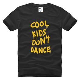 Wholesale Cool Dance Music - Mens Clothing One Direction 1D Men's T-Shirts Fashion Cotton Short Sleeve Rock Music T shirt Men Cool Kids Don't Dance Tee Shirt