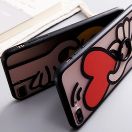 Wholesale Love Cartoon Painting - Cartoon ring buckle with a protective cover phone shell soft suit love painted shell