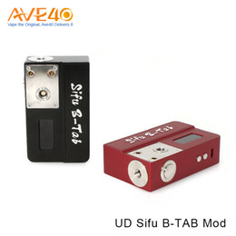 Wholesale box tab - Original 70W UD Sifu B-Tab Box MOD & DIY Tool Ohm Meter & DIY Coil Burning Deck E-Cigarette Vapor Mod for RDA RTA Atomizer