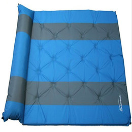 Wholesale Automatic Inflating Mattress - self inflatable Moisture proof air mattress with adjustable pillow and enhanced bottom oxford cloth with TPU coating