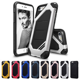 Wholesale Galaxy Note Two Case - Hybrid Two Layers Rugged Shockproof Hard Cover Case For iPhone 4s 5s 6 7 plus Samsung Galaxy S7 Edge Note 5 Grand Prime
